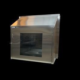 Custom Stainless Steel Clean Room Floor Mounted Pass Thru Cabinet (3)