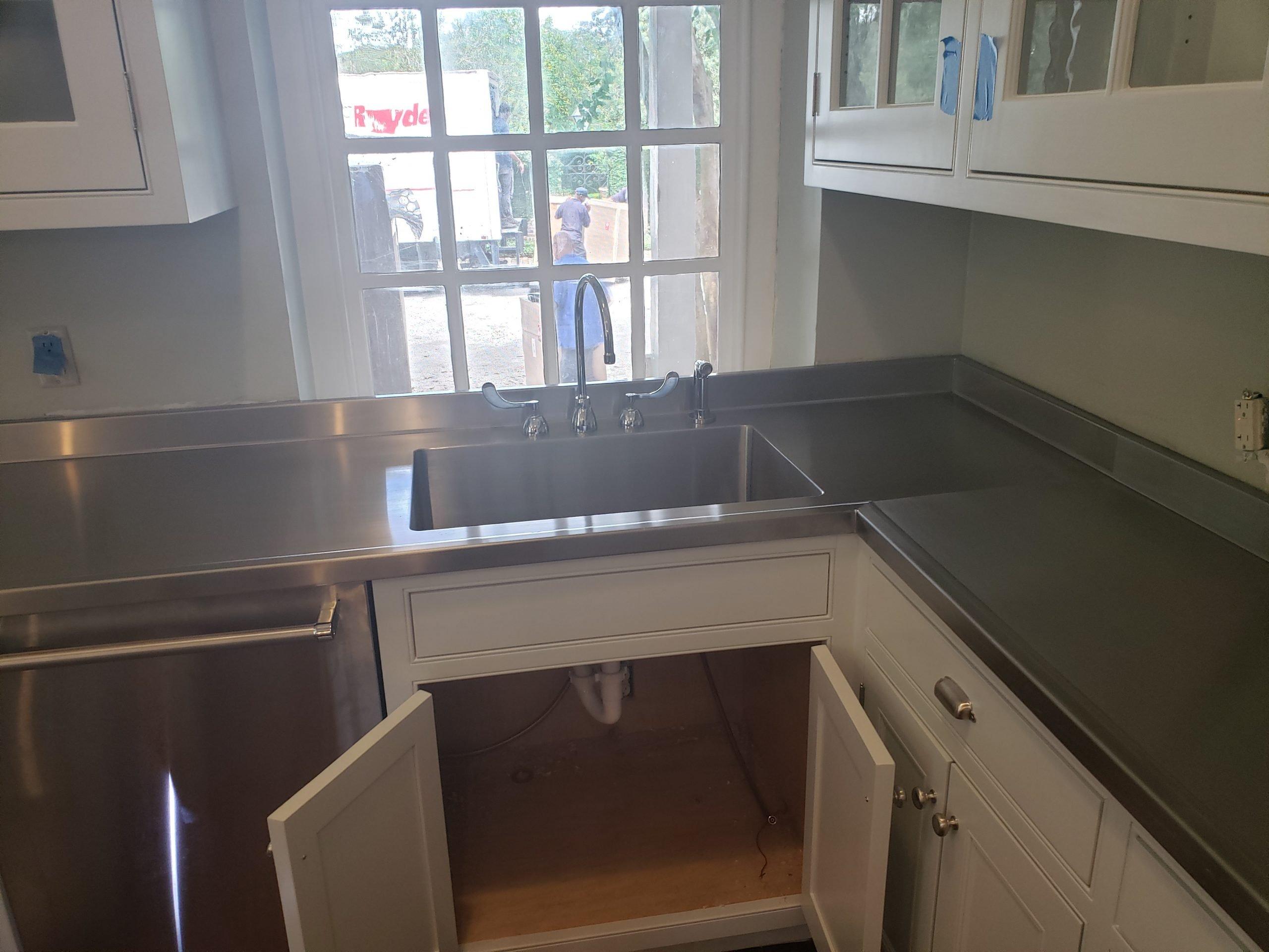 Custom Stainless Steel Kitchen Countertop