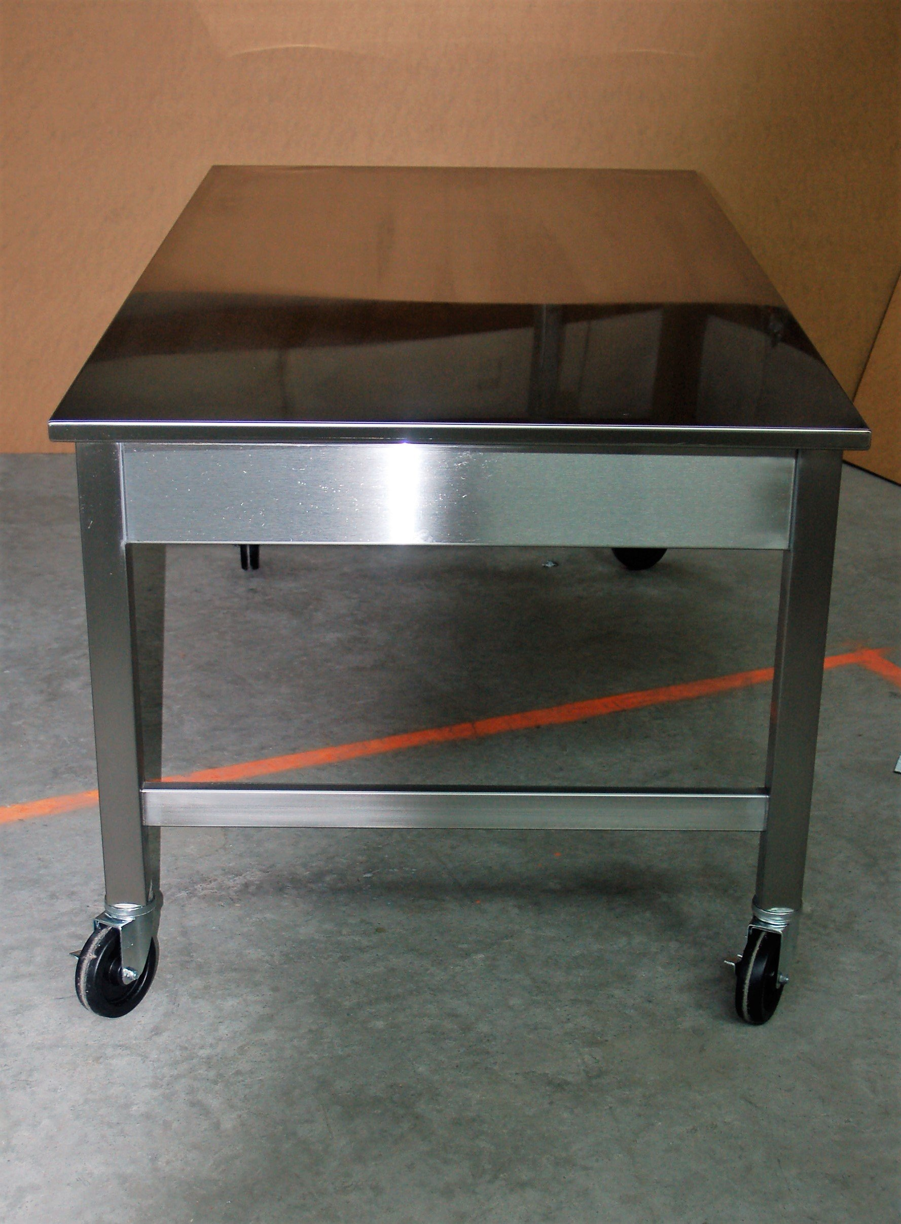 Custom Stainless Steel Mobile Table Sitting Height