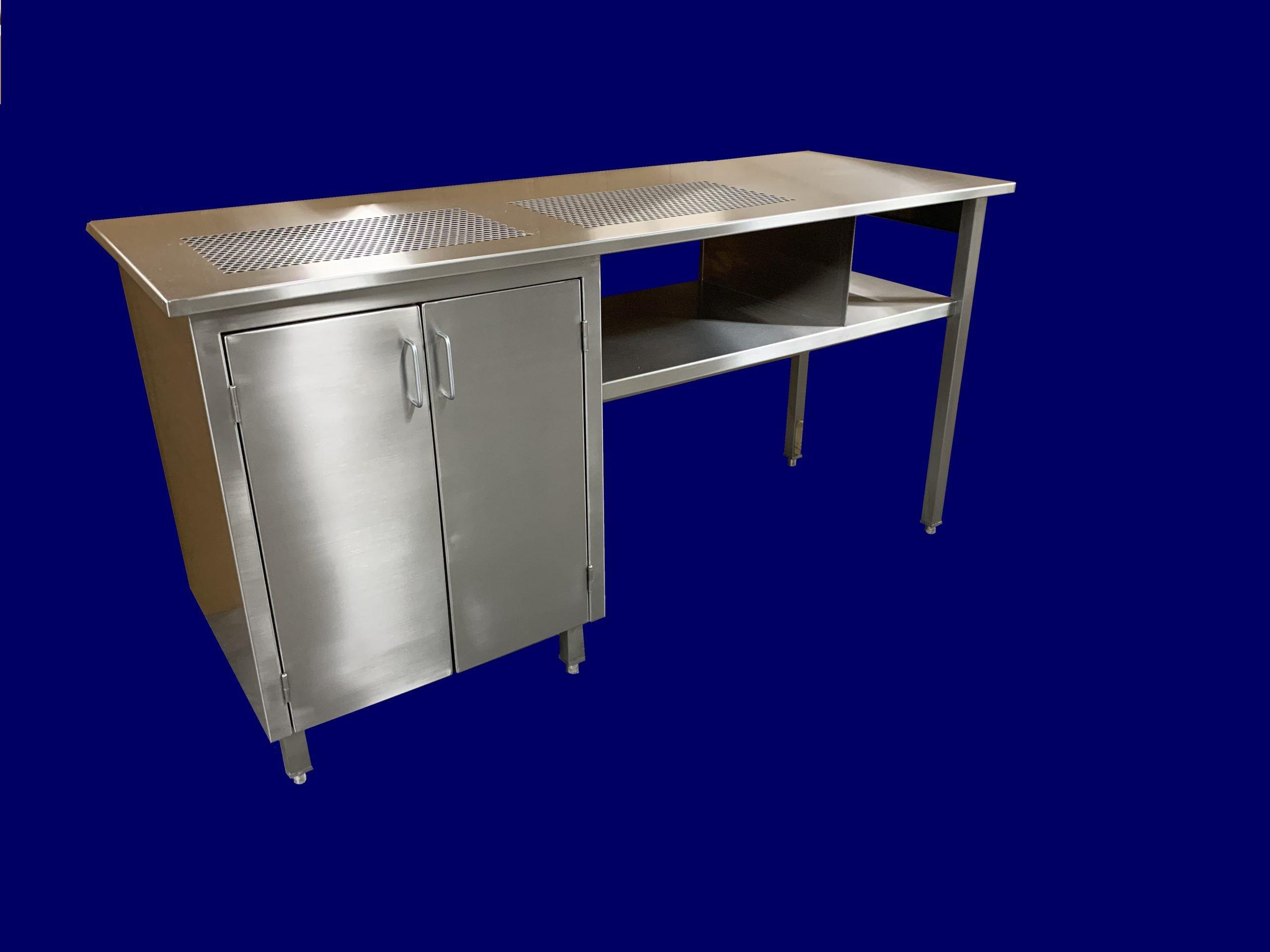 Custom stainless steel table coffee testing station