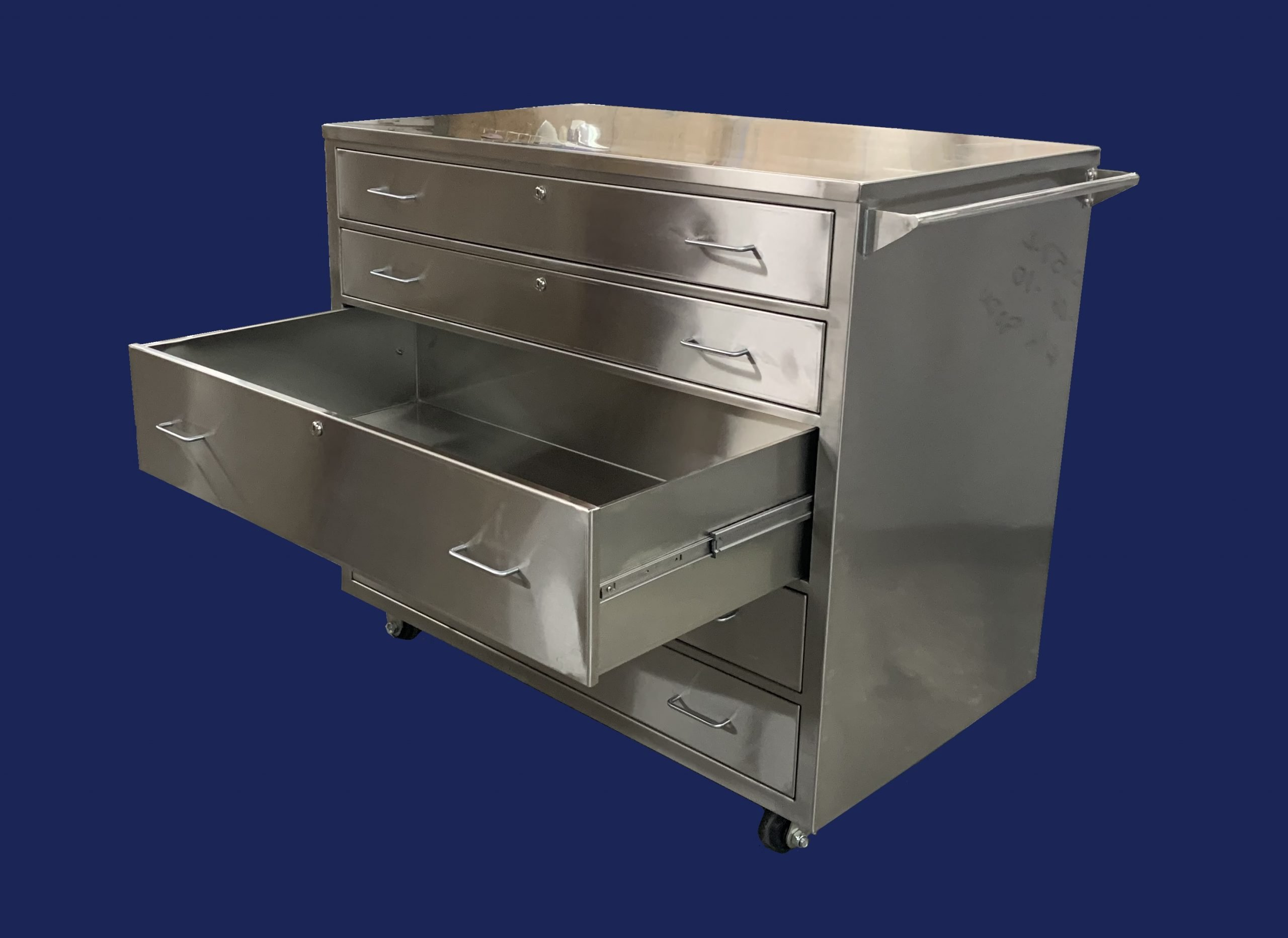 Stainless Steel Mobile Supply Cabinet