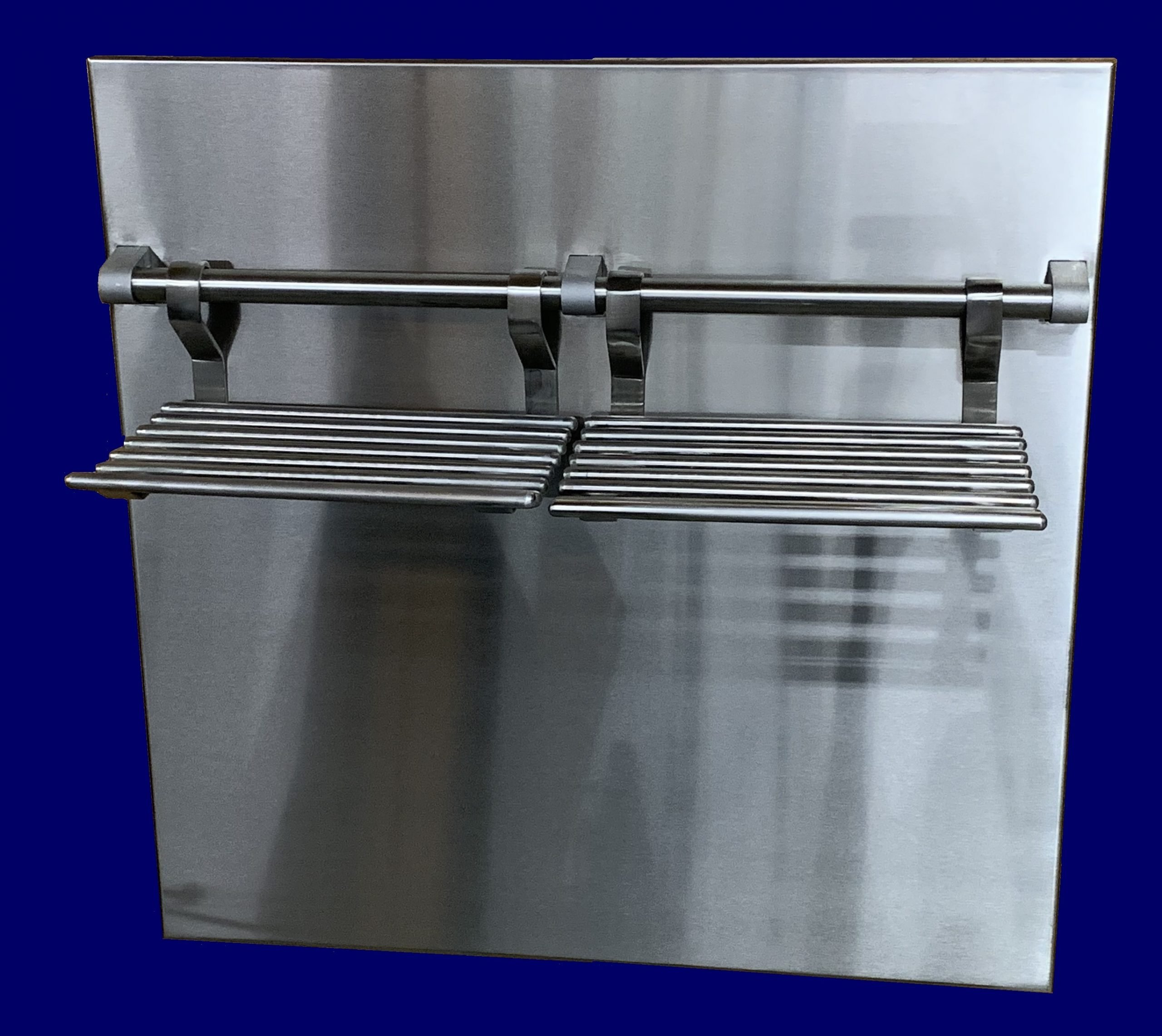 Custom Stainless Steel Residential Backsplash with Cooling Racks
