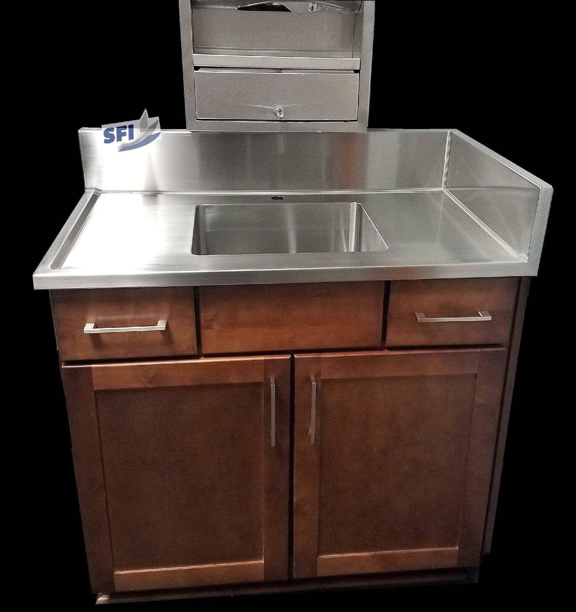 Lavatory Custom Stainless Steel Top Bathroom