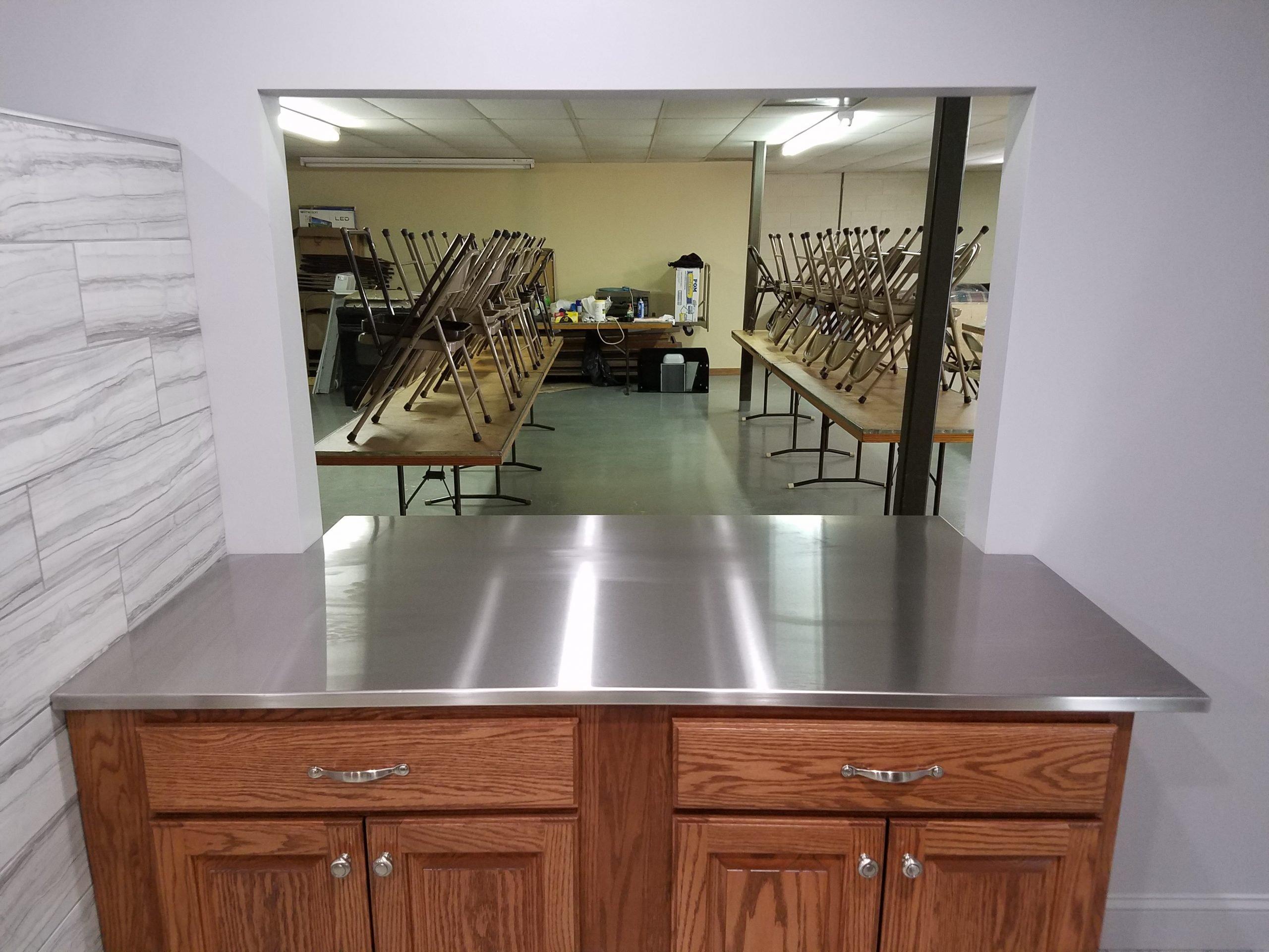 Lodge Custom Stainless Steel Pass Thru Counter Top