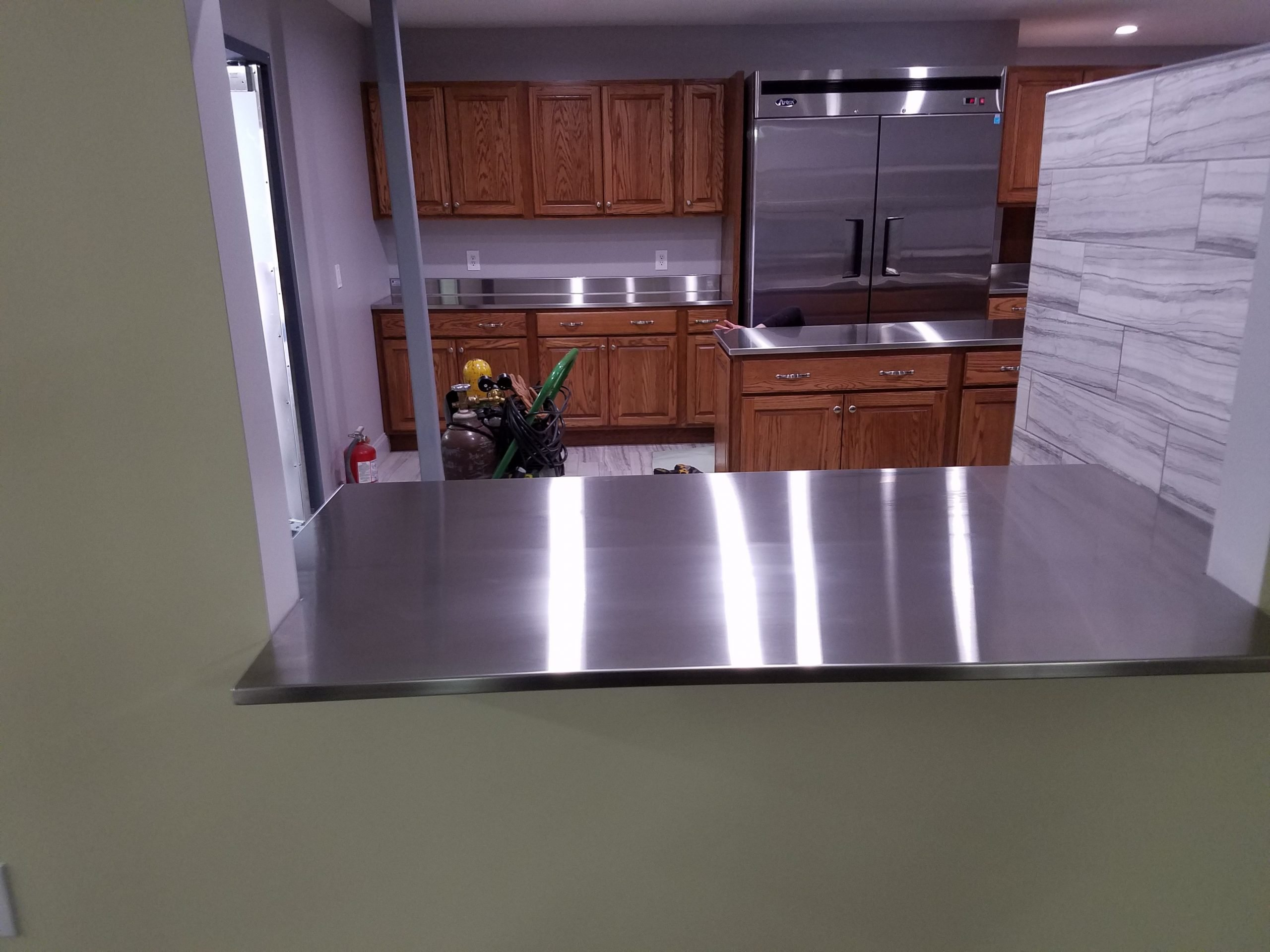 Lodge Custom Stainless Steel Kitchen Tops