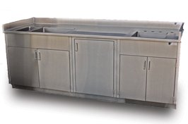 NSF Approved Stainless Steel Top And Base Cabinet Unit