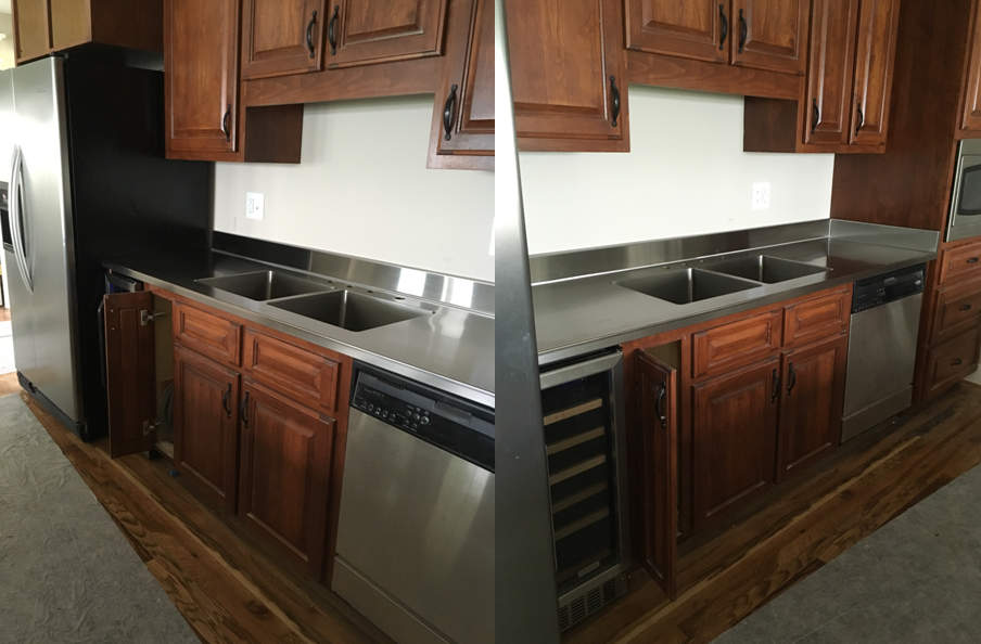 Residential Custom Stainless Steel Counter Top