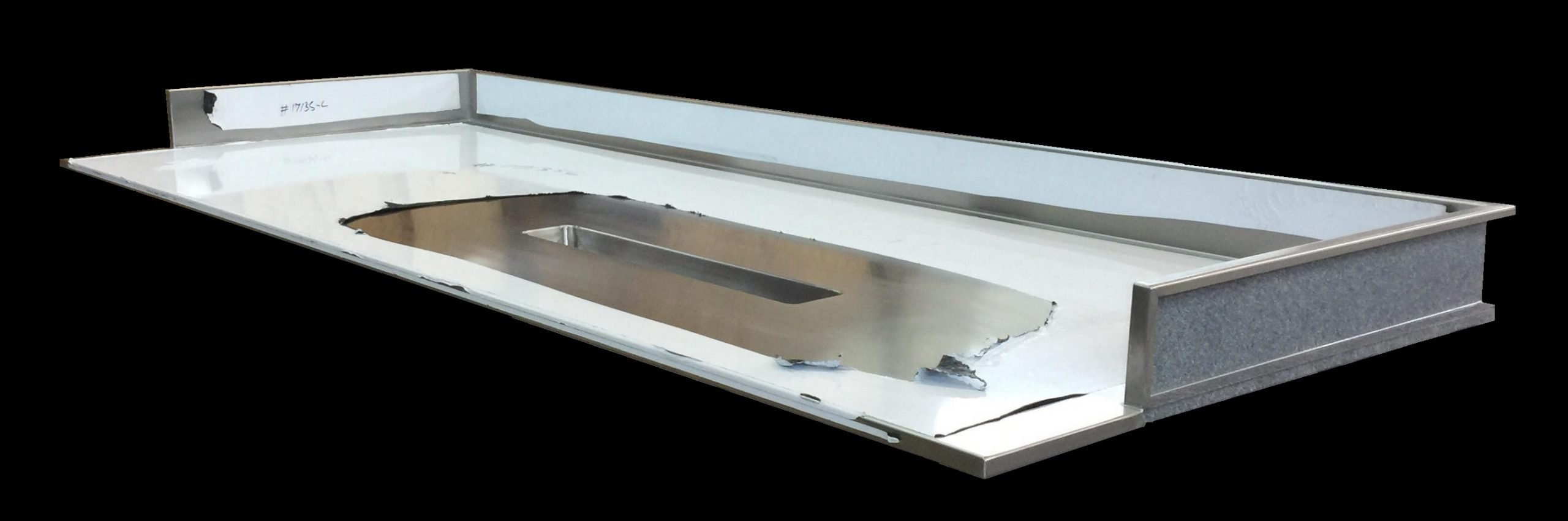 Stainless Steel Custom Top with integral rectangular chute