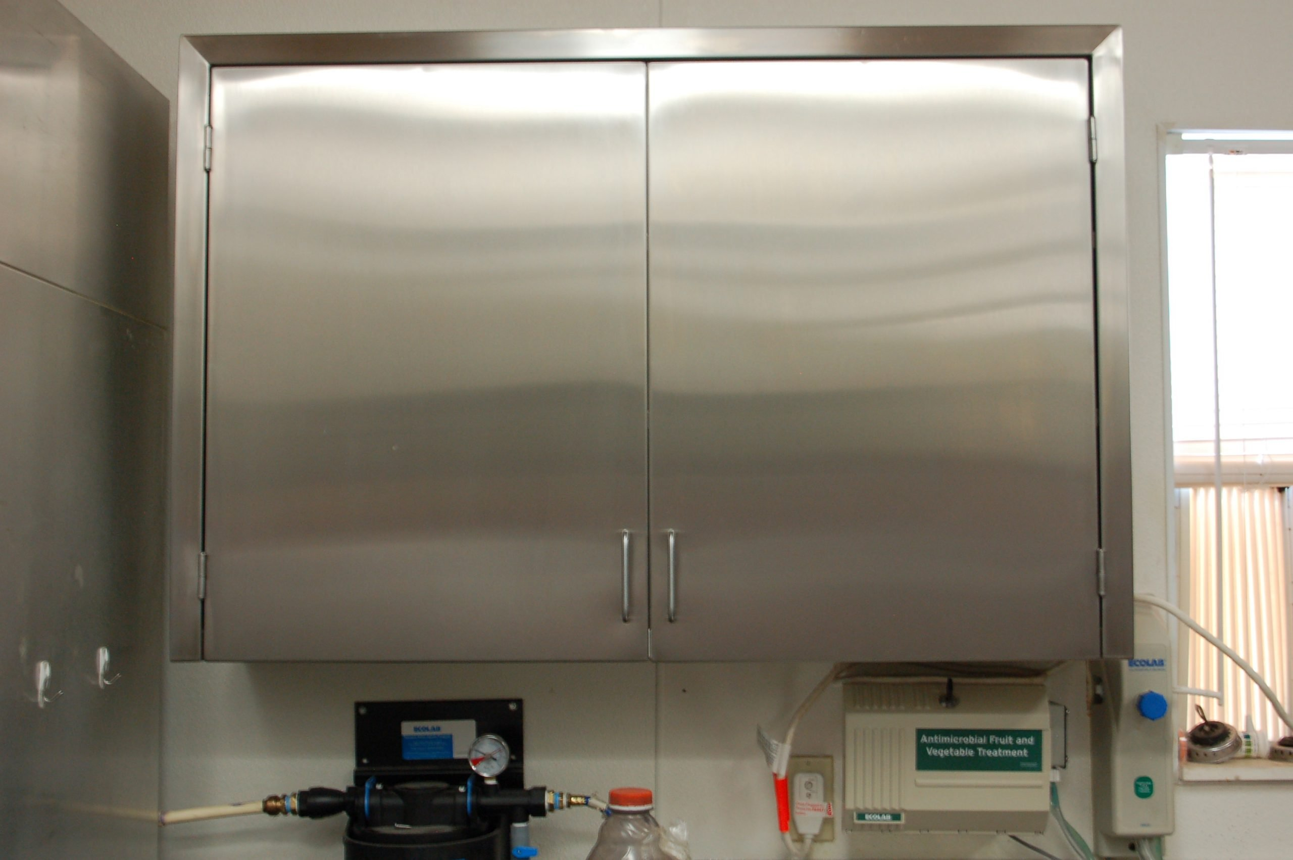 Wall Cabinet Custom Stainless Steel 48 inch wide