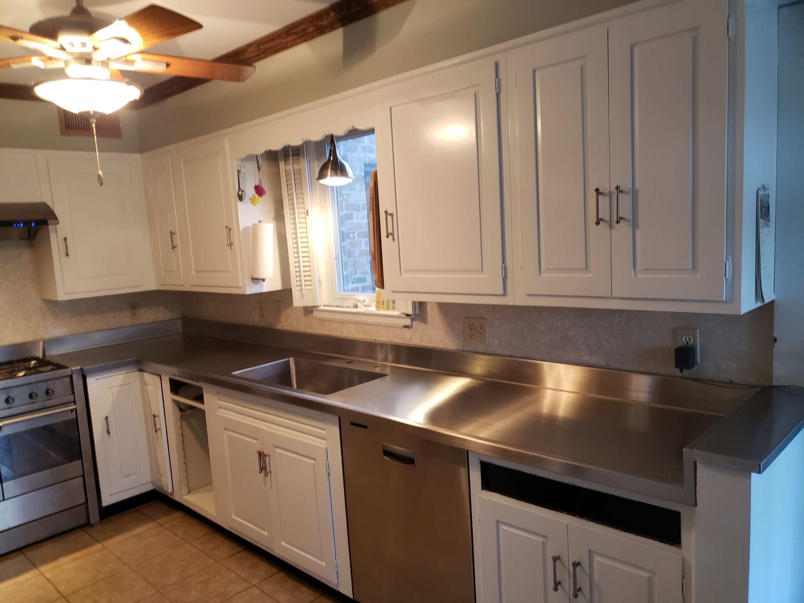 custom stainless steel residential counter top