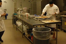 stainless steel custom commercial kitchen chefs counter