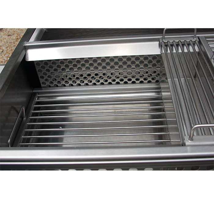 stainless steel grill with lower rack pdq style no flip design