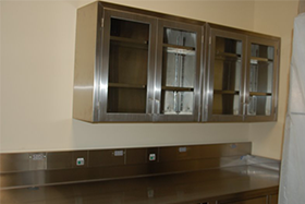 Stainless Steel Hospital and Laboratory Wall Cabinets
