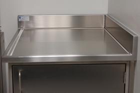 stainless steel laboratory corner top