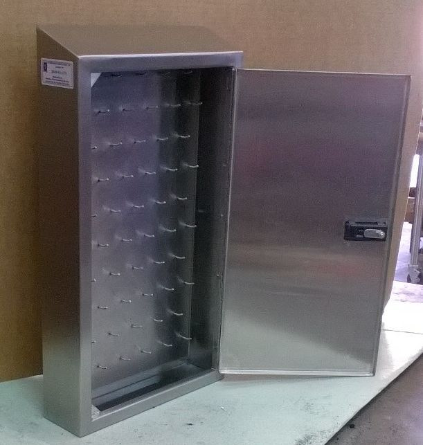 Lock Box 3 Stainless Steel Lock Box Combination Lock and master key wall mounted