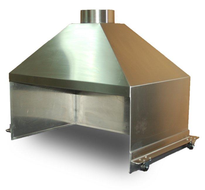 stainless steel mobile hood