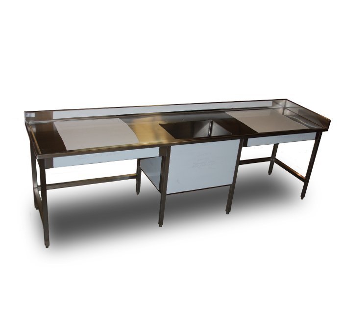 stainless steel sink table integral