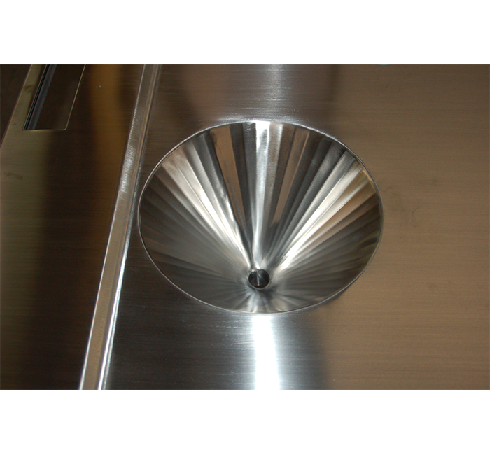 stainless steel transitional integral cone drain