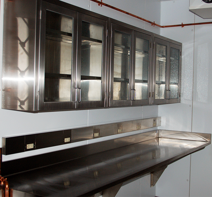 stainless steel wall mounted laboratory top and glass door wall cabinets for school educational laboratory