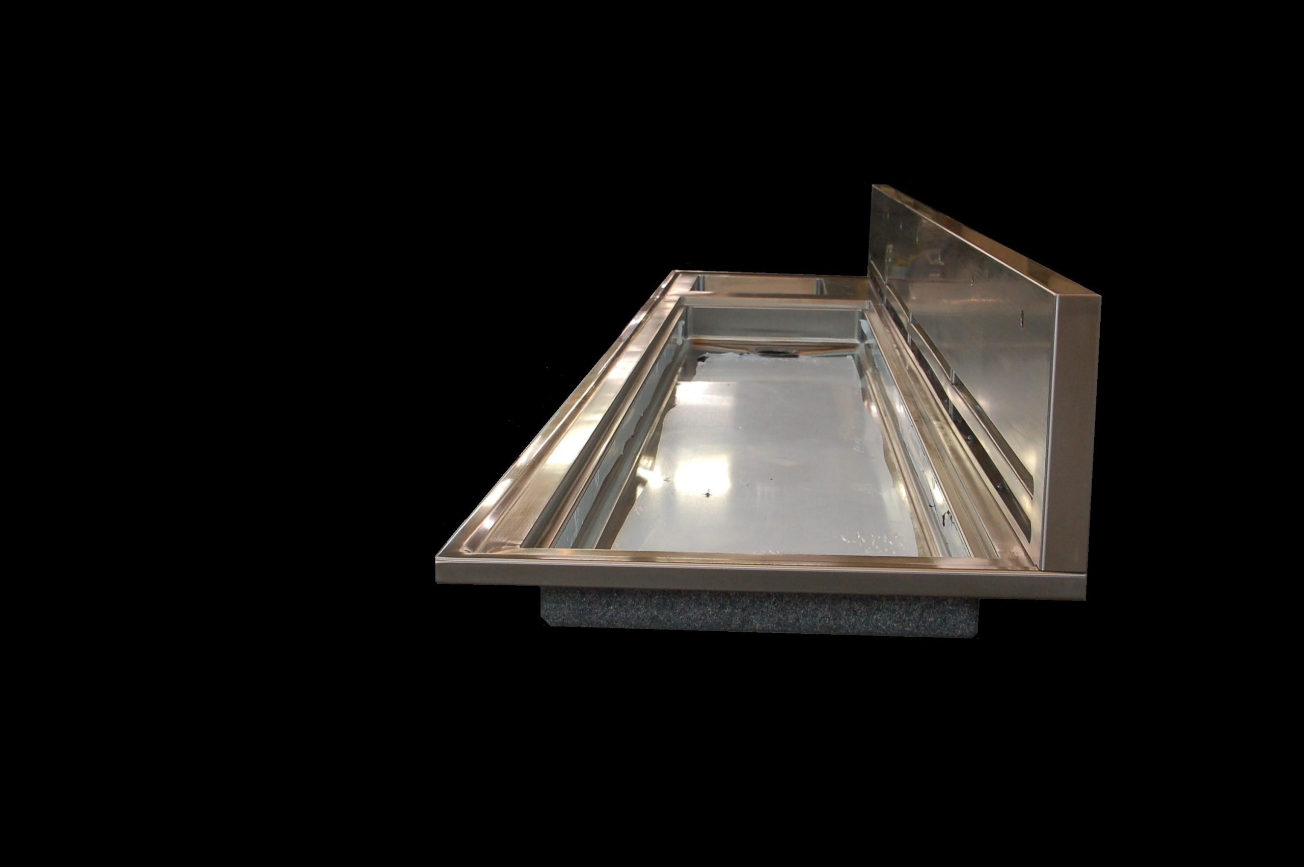 vented top with integral trough and sink custom stainless steel