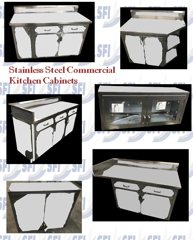 Stainless Steel Commercial Cabinetry